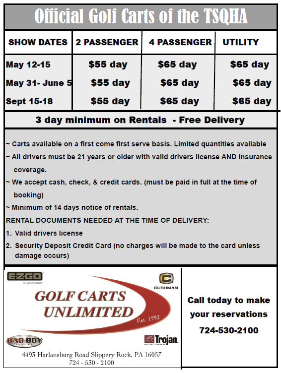 Tri State Quarter Horse ociation - Golf Carts on